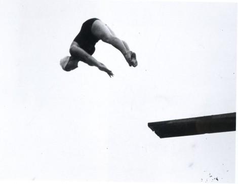 Anonym, Ohne Titel (Turmspringerin), um, around 1930 © Obricht Collection; Photo Villa Grisebach, Berlin