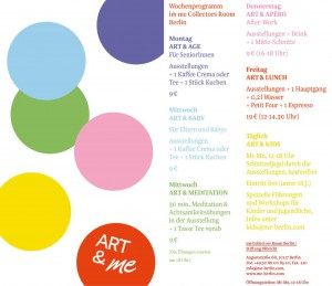 ART & ME – Weekly programme at me Collectors Room Berlin